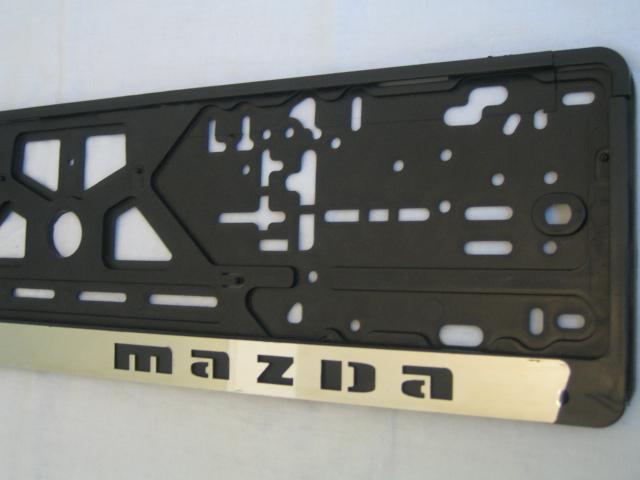 Комплект пластиковых рамок с вставкой из нержавеющей стали Mazda