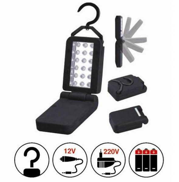 Переносной светильник диодный светодиодов 220В/12В со встроенным аккумулятором