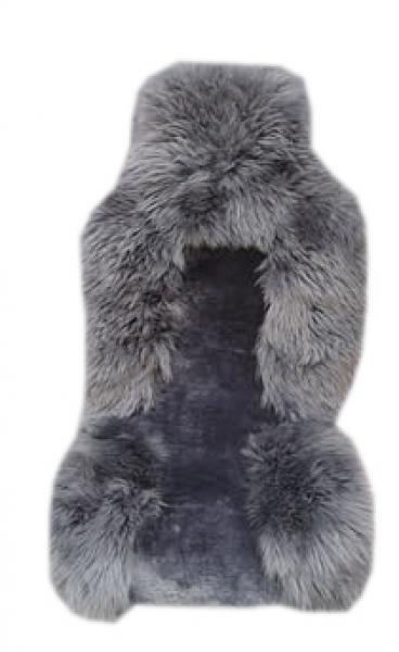 Меховой чехол из натуральной из овчины, серый