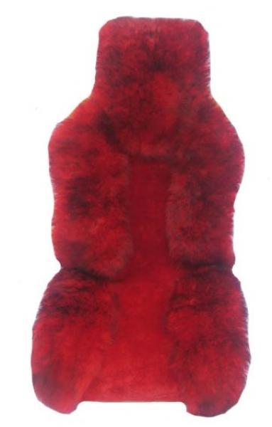 Накидка из натуральной овчины, комбинированный красный мех