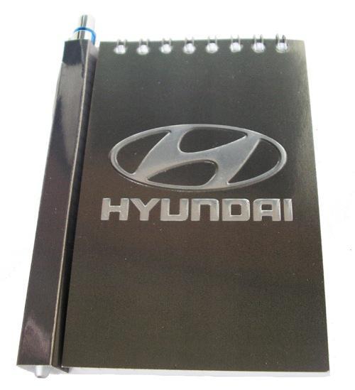 Автомобильный блокнот с магнитом Hyundai