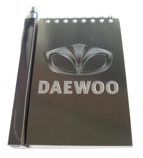 Автомобильный блокнот с магнитом Daewoo