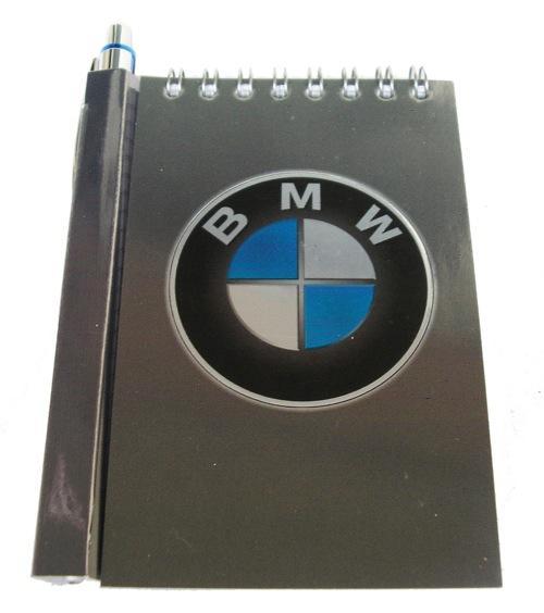 Автомобильный блокнот с магнитом BMW
