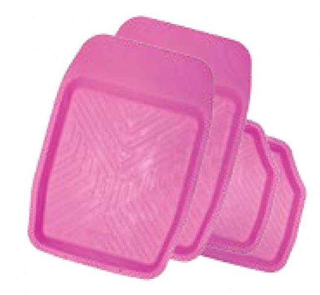 Комплект женских ковриков в салон Groove розовый