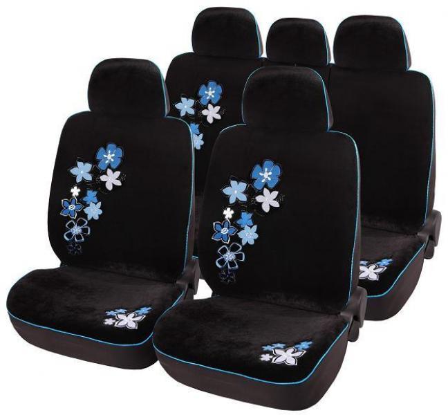 Комплект чехлов в салон черные Blue edelveis
