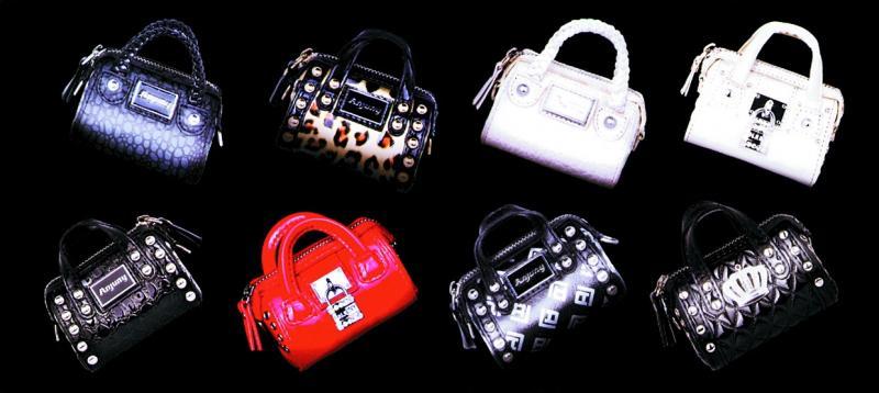 Мини-сумочка с ароматизатором воздуха темно-серая игуана