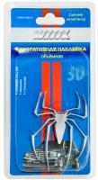 Наклейка паук серебристый