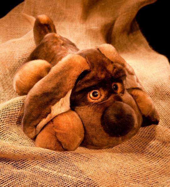 Спящая собака, цвет натуральный коричневый, XL размер