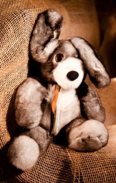 Кролик, цвет натуральный серый, XL размер
