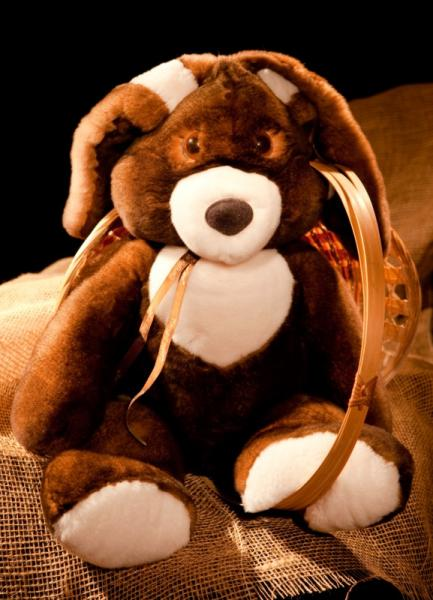 Кролик, цвет натуральный коричневый, XL размер