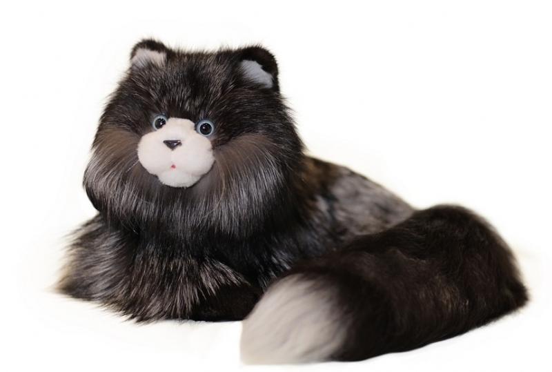 Кот из меха чернобурки/блю фрост