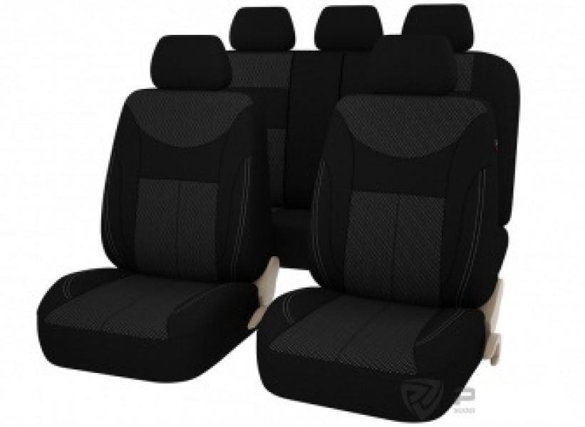 Авточехлы на сидения Point (Черно-Серый) L, 4 вставки