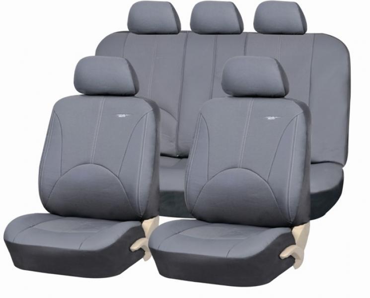 """Авточехлы на сидения """"PSV"""" Imperial Эко-кожа (Т.Серый) к-н, 3м, L"""