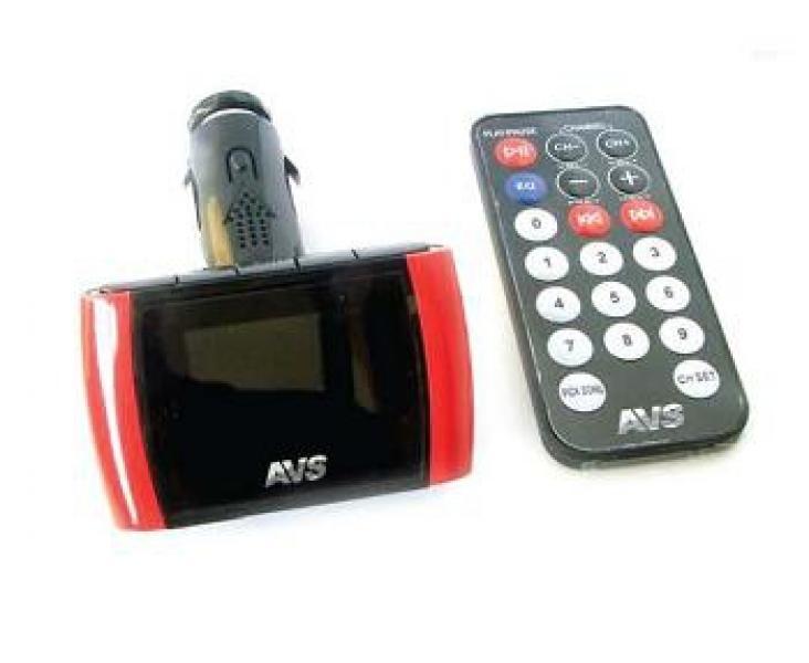 USB MP3 плеер FM трансмиттер с дисплеем и пультом ДУ AVS F708А