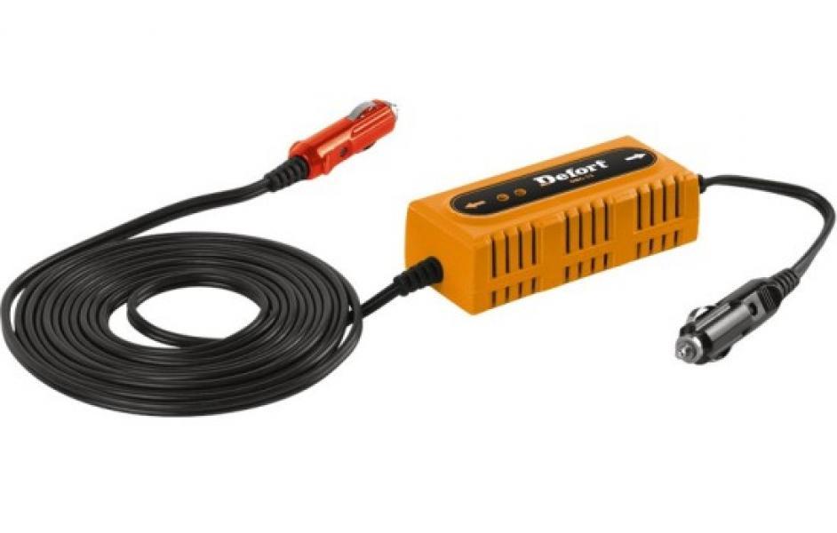 Зарядное устройство для аккумуляторных батарей от прикуривателя 12V Defort(Германия)