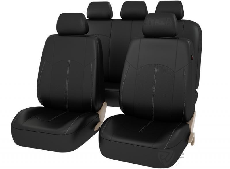 Авточехлы на сидения ИМПУЛЬС (чёрный)