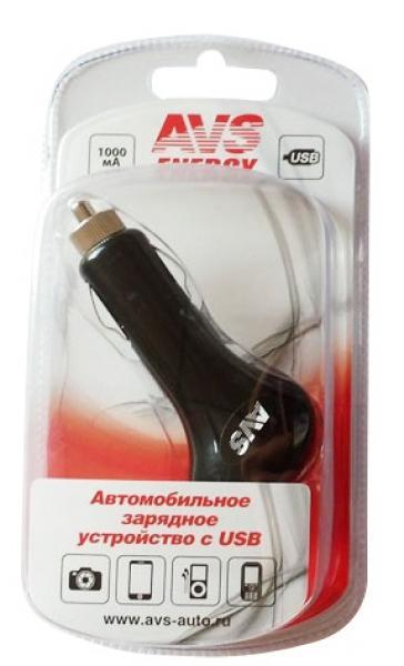 USB автомобильное зарядное устройство AVS 1 порт UC-411