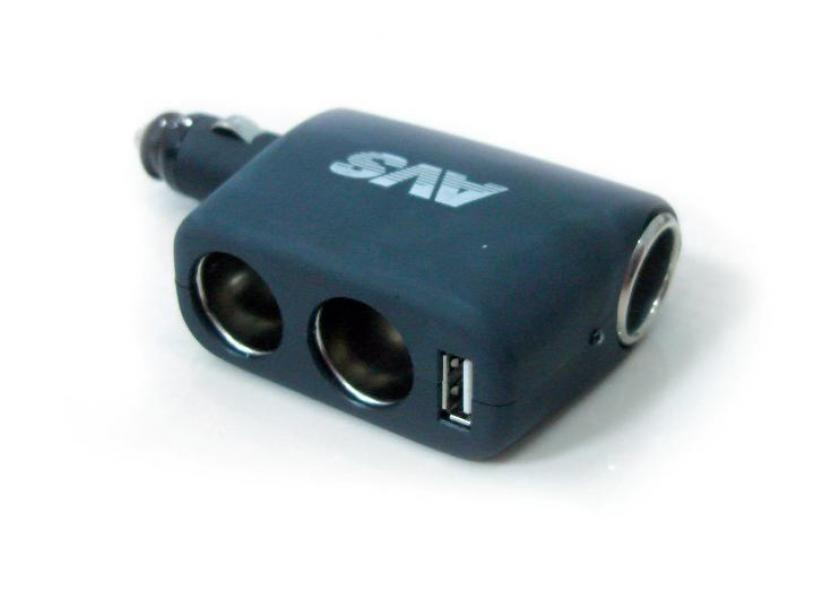 Разветвитель прикуривателя 12/24 (на 3 выхода+USB) CS311U