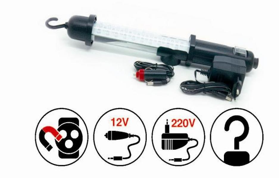 Переносной светильник CD306A 30LED 220/12V (акб)