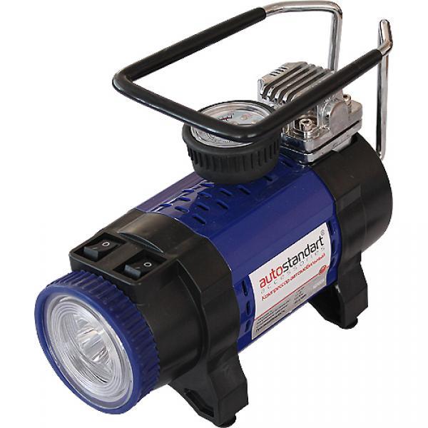 Компрессор STORM с фонарем в прикуриватель, 192W, 50л/мин