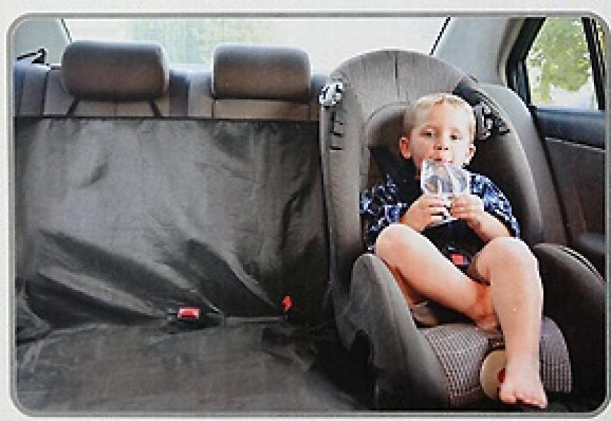 Накидка защитная на заднее сиденье, непромокаемая из полиэстера (черн.)