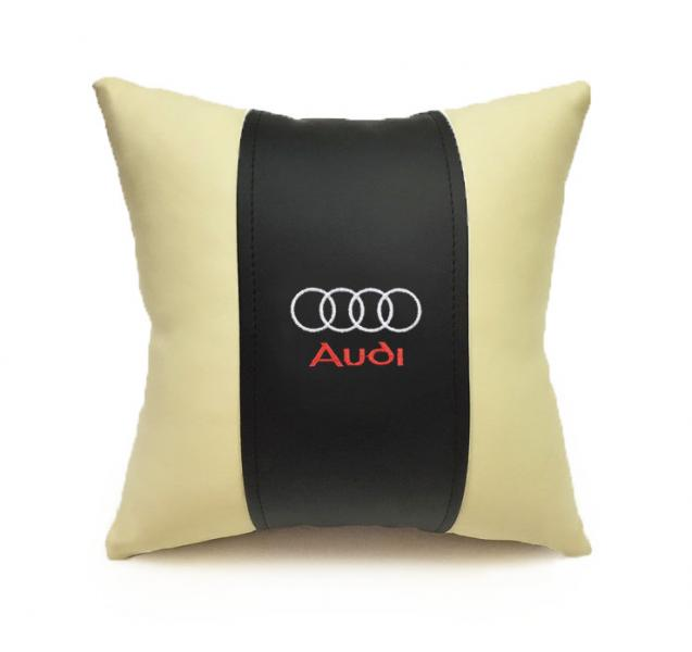 Автомобильная подушка из эко-кожи AUDI