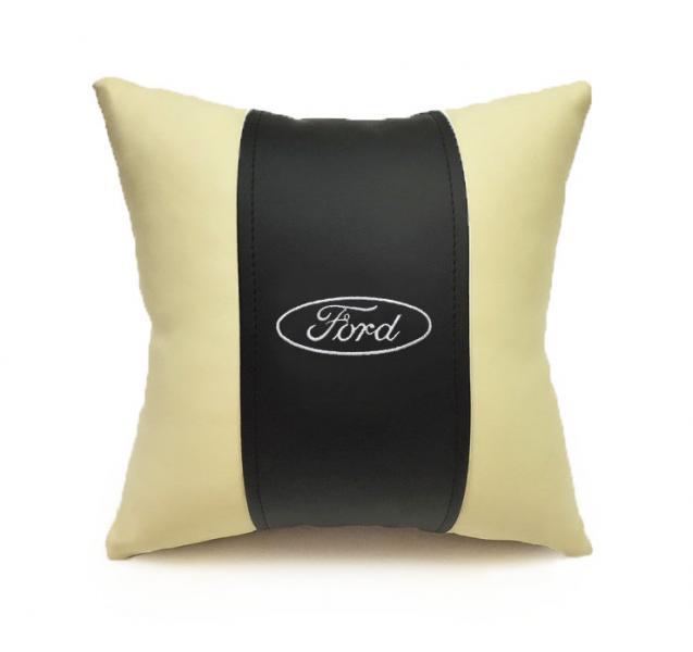 Автомобильная подушка из эко-кожи FORD