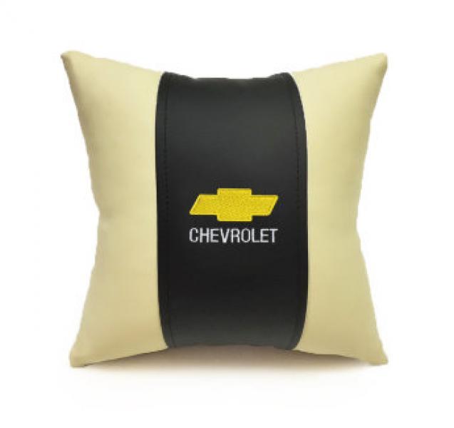Автомобильная подушка из эко-кожи CHEVROLET