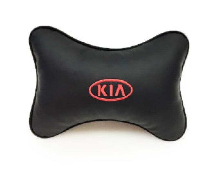 Подушка-подголовник из эко-кожи KIA