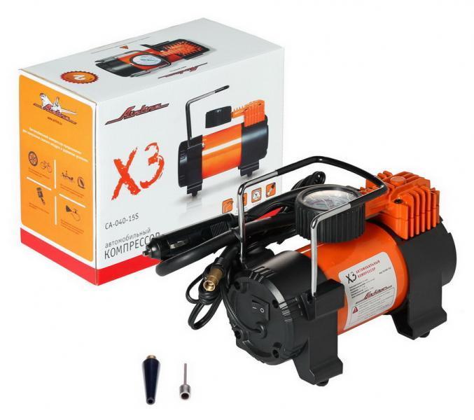 Компрессор автомобильный AIRLINE X3 (40 л/мин)