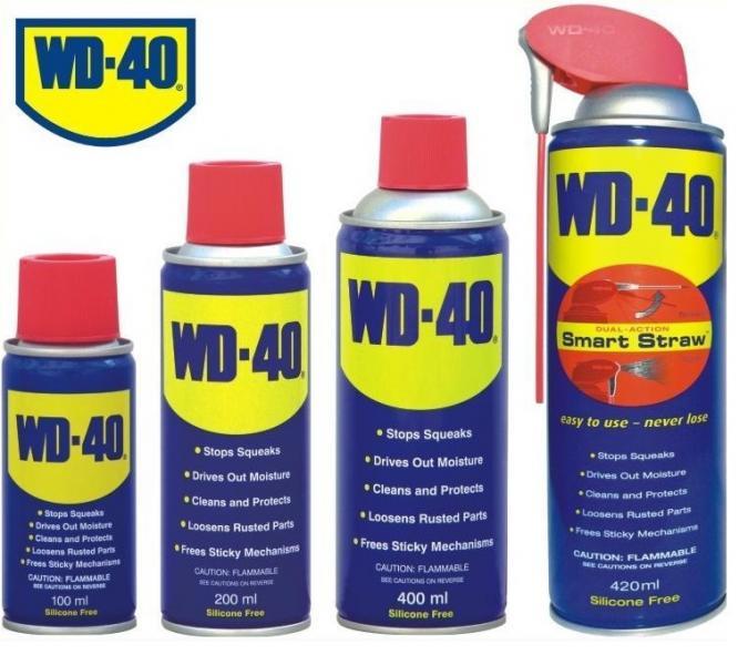 Универсальная смазка WD-40 (от пятен, ржавчины, влаги, наледи, застрявших механизмов)