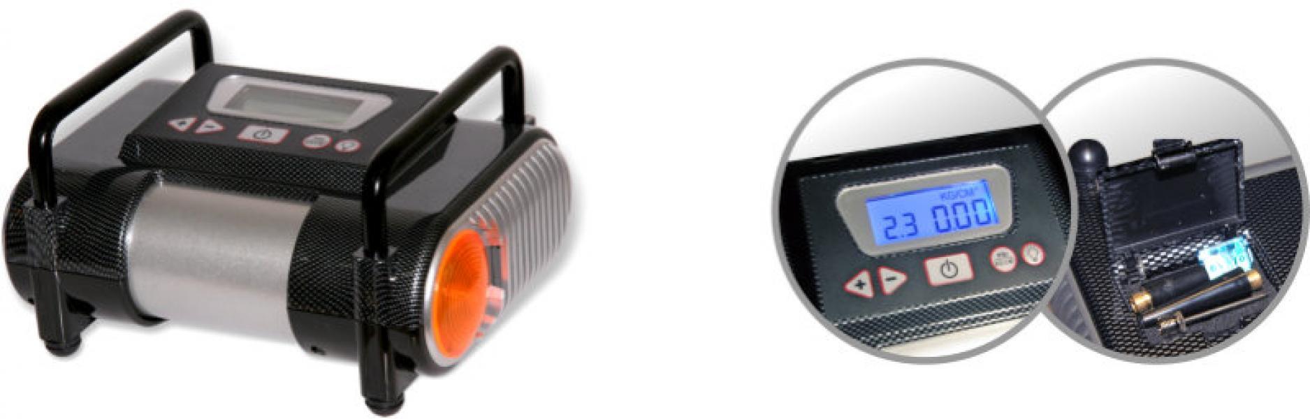 Компрессор автомобильный AС-570 Digital с цифровым отсчетом показаний. 35 л/мин