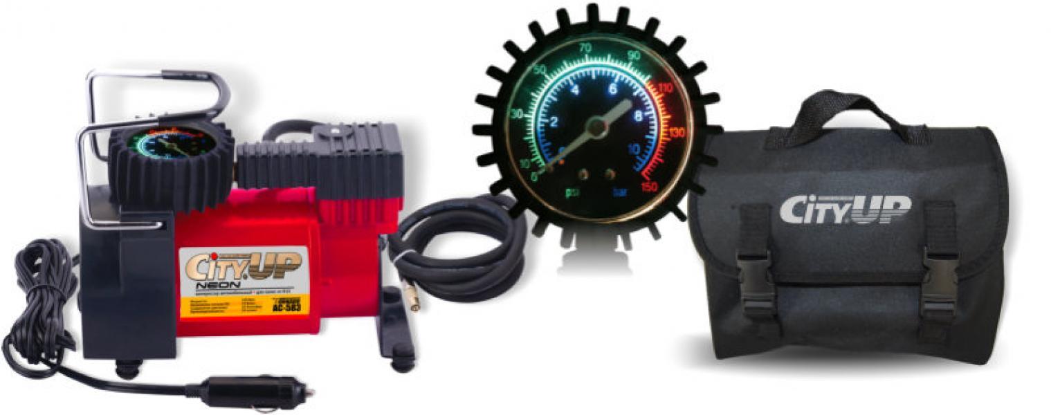 Компрессор автомобильный AС-583 Neon большой мощности( для колес от R15 с цветной подсветкой) 35 л/мин.
