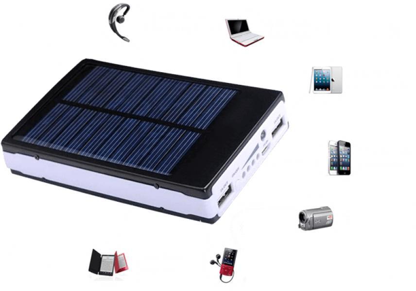 Зарядное устройство POWER 20000 mAh + на солнечных батареях