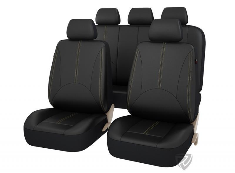 Авточехлы на сидения PSV IMPERIAL NEXT (Черный/отстрочка бежевая) L, перфорированная эко-кожа
