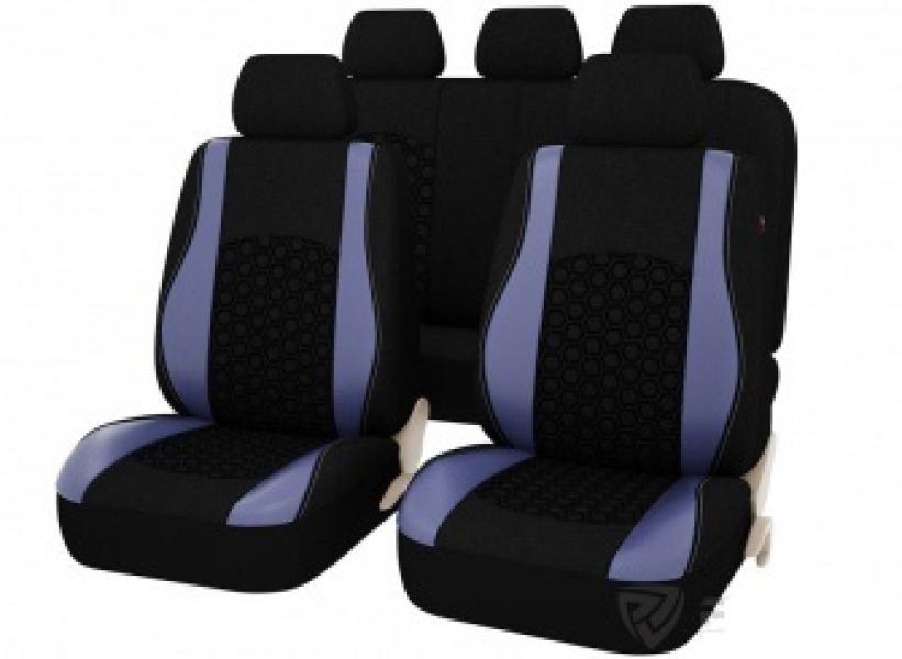 Авточехлы на сидения PSV Beemaster (Синий) Эко-материал