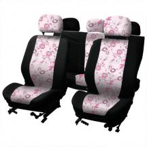 0310121СР прочие.  В комплекте 9 предметов: 2 чехла для передних сидений, 2 - для заднего, 5 - подголовников.