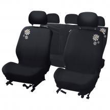 Универсальные чехлы для сидений, которые подходят к различным моделям легковых автомобилей.