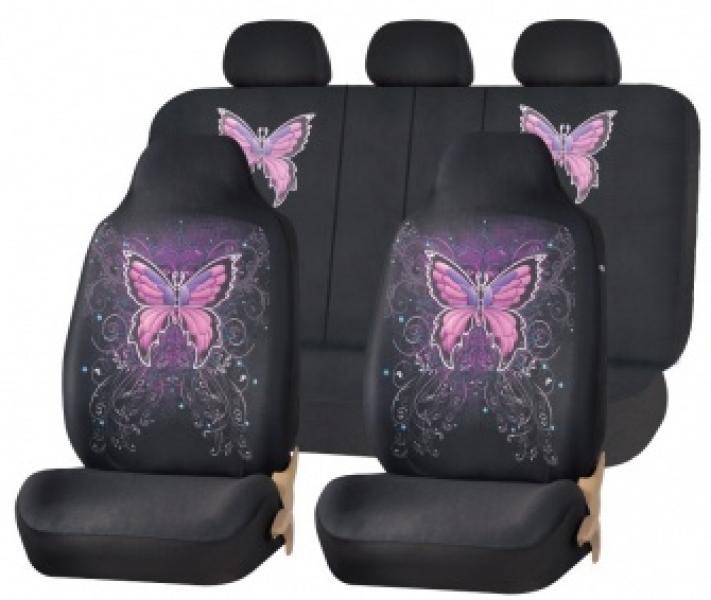 Комплект чехлов на сиденья Olimpius (Черный)